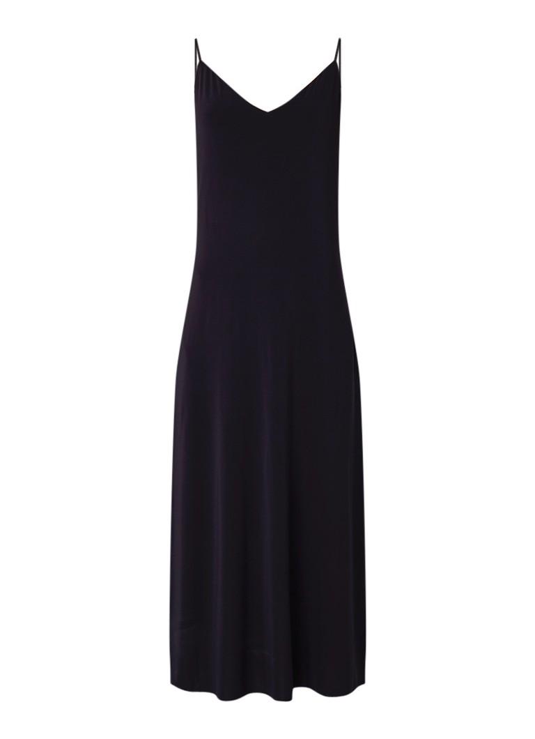 Claudia Sträter Maxi-jurk van crêpe donkerblauw