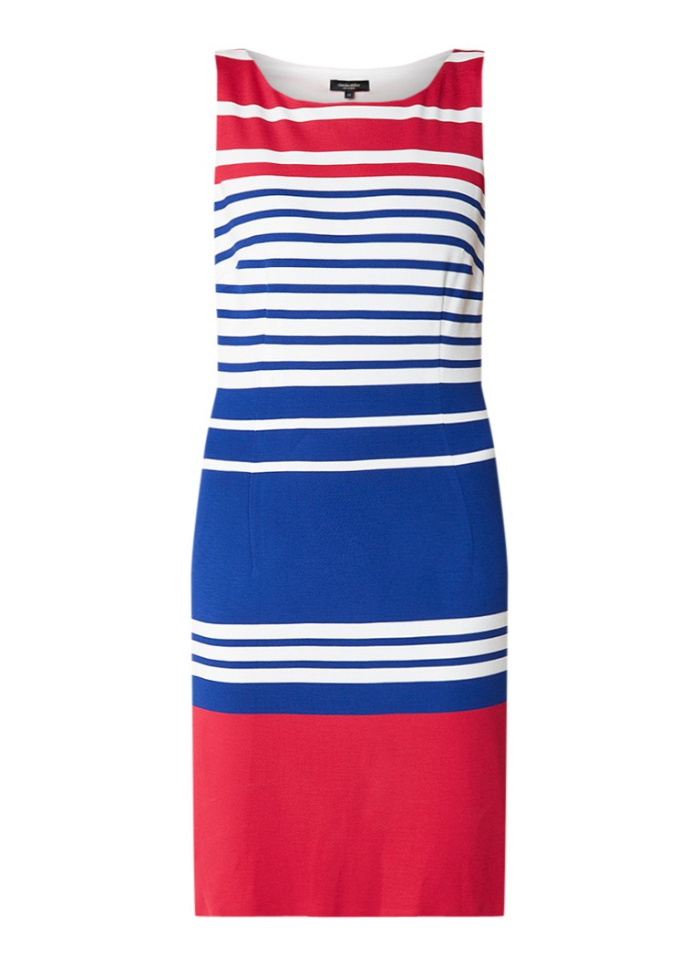 Claudia Sträter Jersey midi-jurk met streepdetails donkerroze