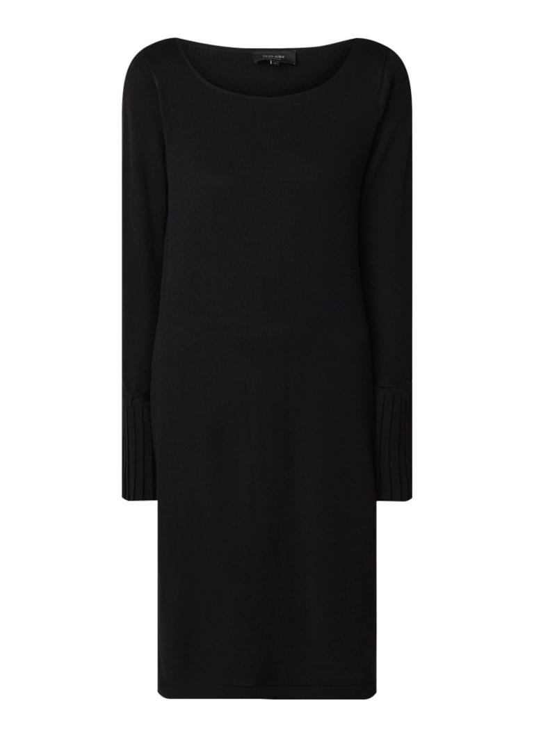 Claudia Sträter Trui-jurk van wol met klokmouw zwart