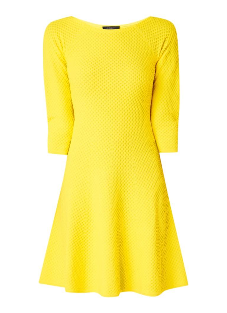 Claudia Sträter A-lijn jurk met ingebreide structuur geel