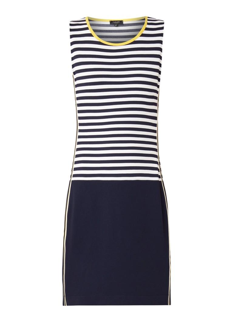Claudia Sträter Midi-jurk van jersey met streepdessin donkerblauw