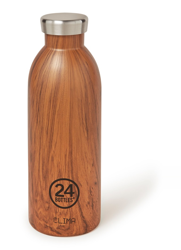 24Bottles Sequoiawood Clima Bottle drinkfles 500 ml