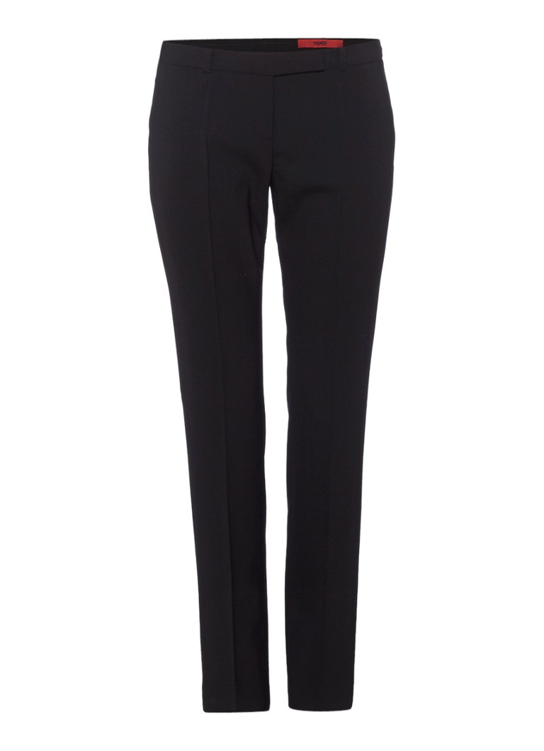 HUGO BOSS Harile wollen pantalon in zwart