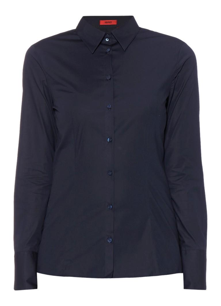 HUGO BOSS Etrixe klassieke blouse van katoen