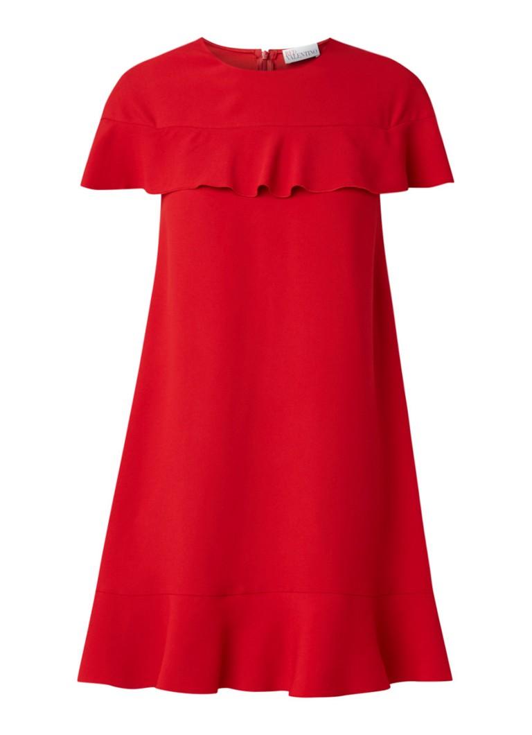 Red Valentino Mini-jurk met volant rood