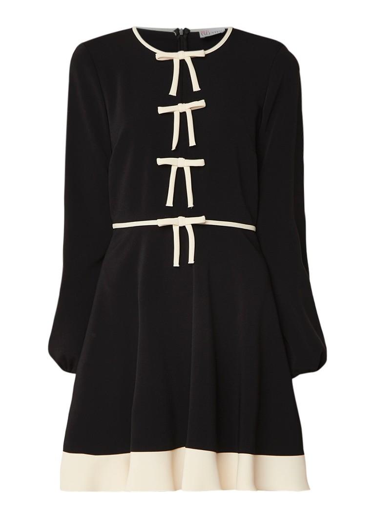Red Valentino A-lijn jurk van crêpe met strikdetails zwart