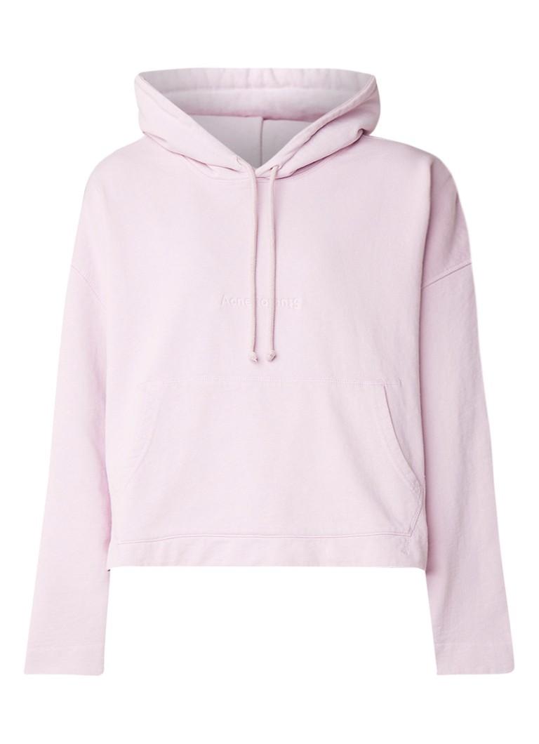 Acne Studios Joghy loose fit cropped hoodie van katoen