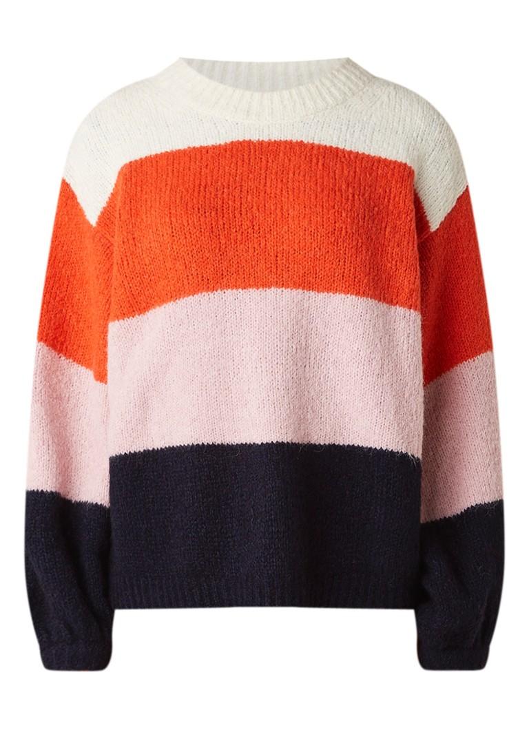 Acne Studios Kazia pullover in alpacablend met colour blocking
