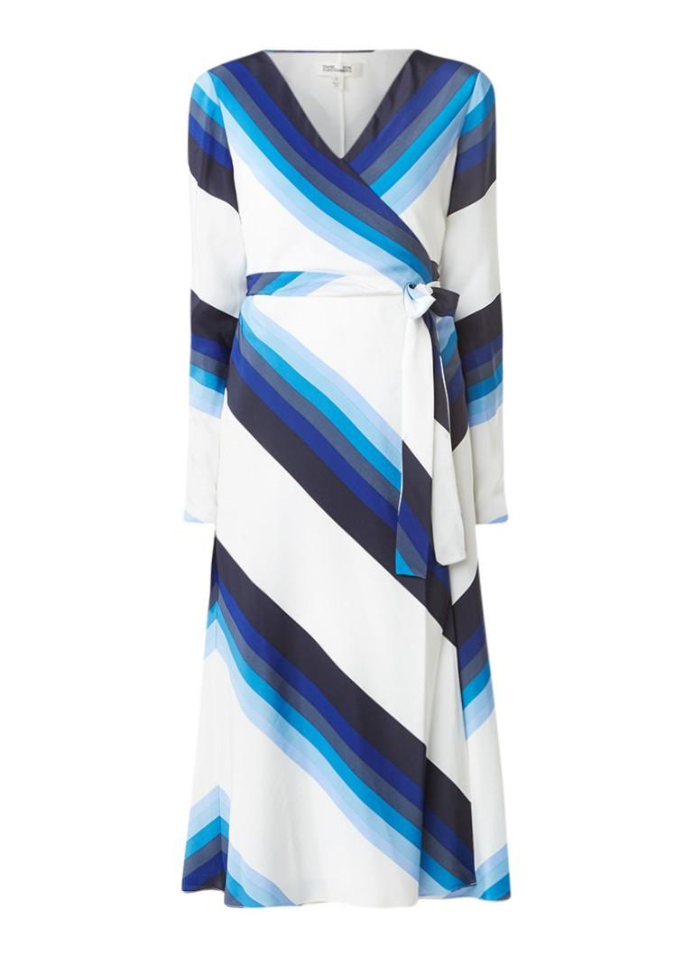 Diane von Furstenberg Wikkeljurk van zijde blauw