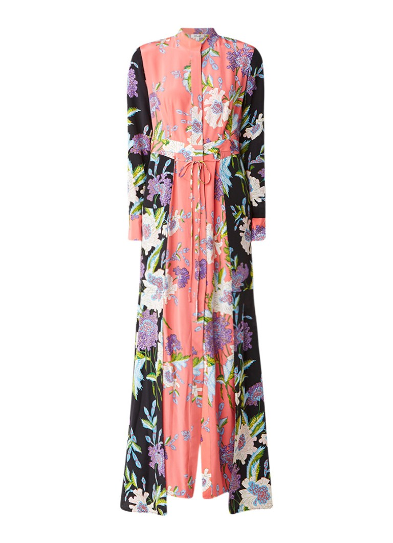 Diane von Furstenberg Tuniekjurk van zijde met bloemendessin multicolor