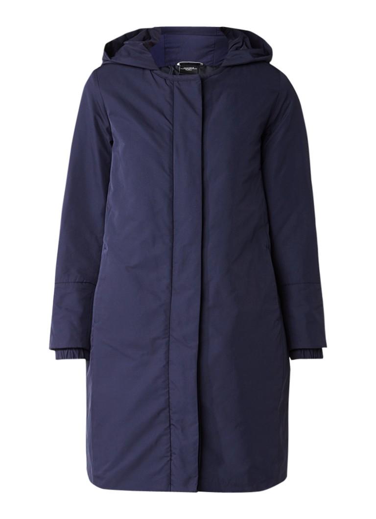 MaxMara gewatteerde winterjas donkerblauw
