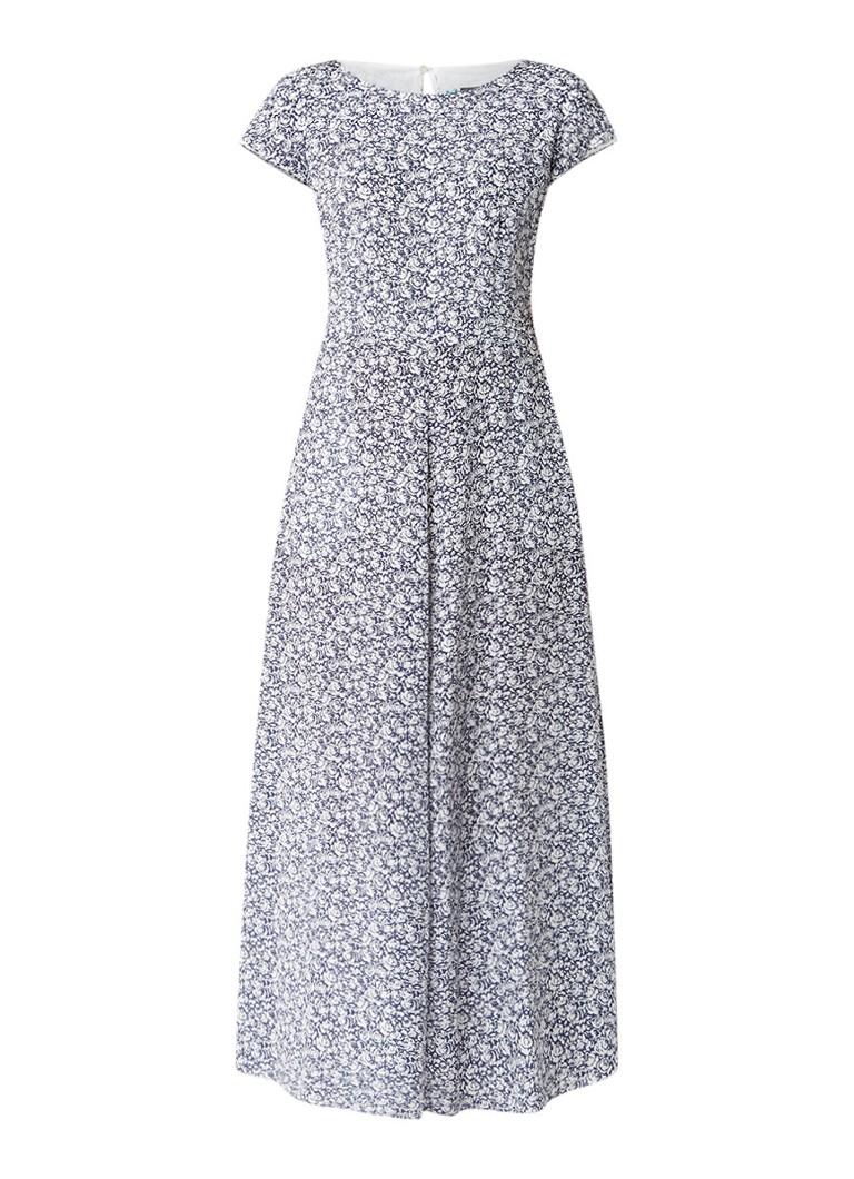 MaxMara Lange A-lijn jurk van zijde staalblauw