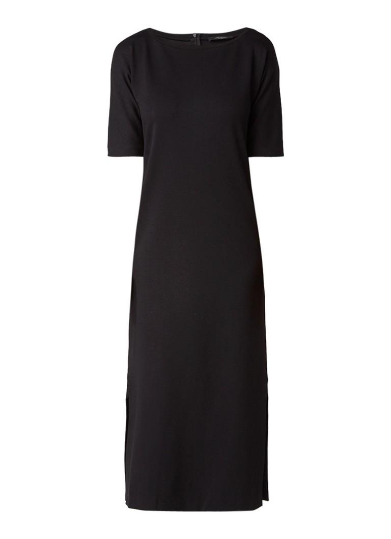 MaxMara Lange tuniekjurk van jersey zwart