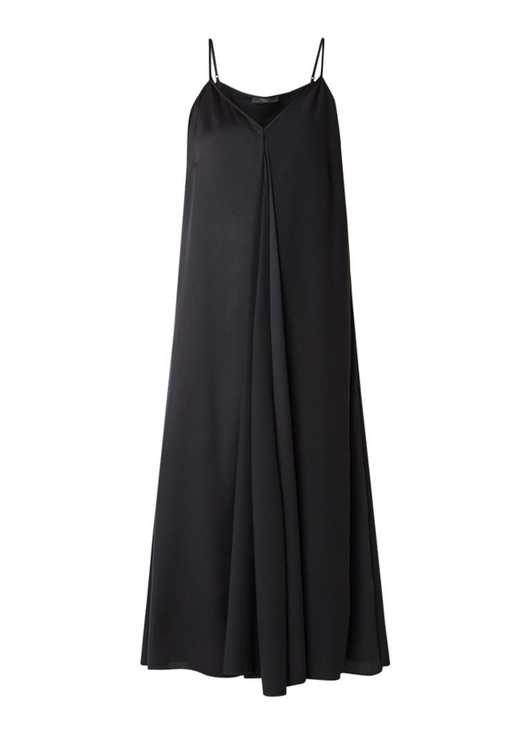 MaxMara Midi-jurk met steekzakken en verstelbare bandjes zwart