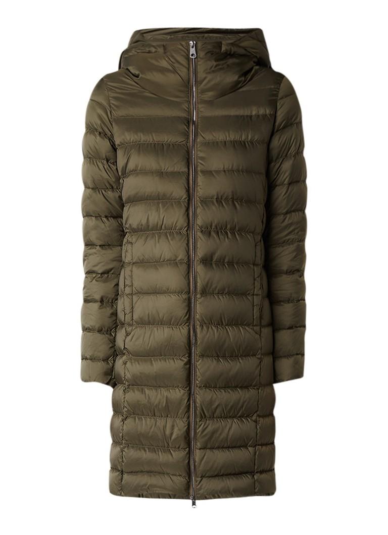 MaxMara gewatteerde winterjas khaki