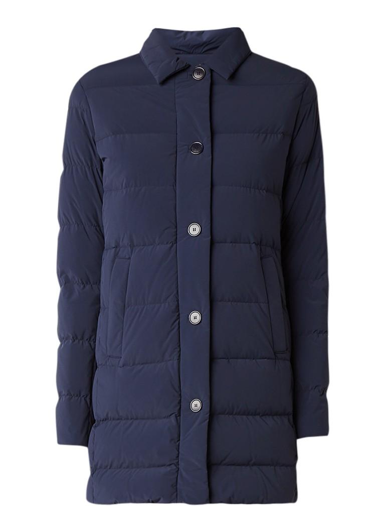 MaxMara gewatteerde winterjas kobaltblauw