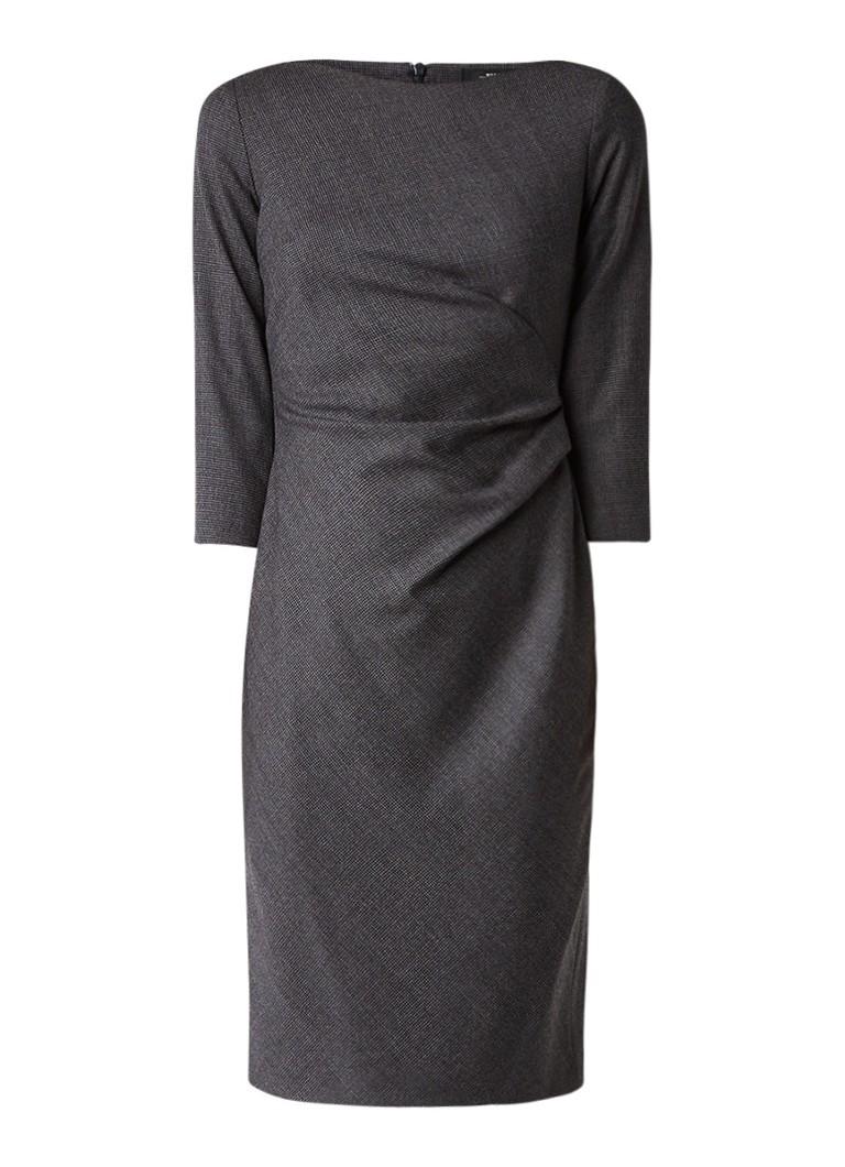 MaxMara Virgola jurk van wol met draperie donkergrijs