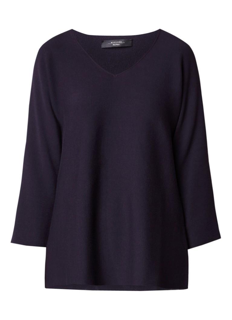MaxMara Kim fijngebreide pullover met V-hals