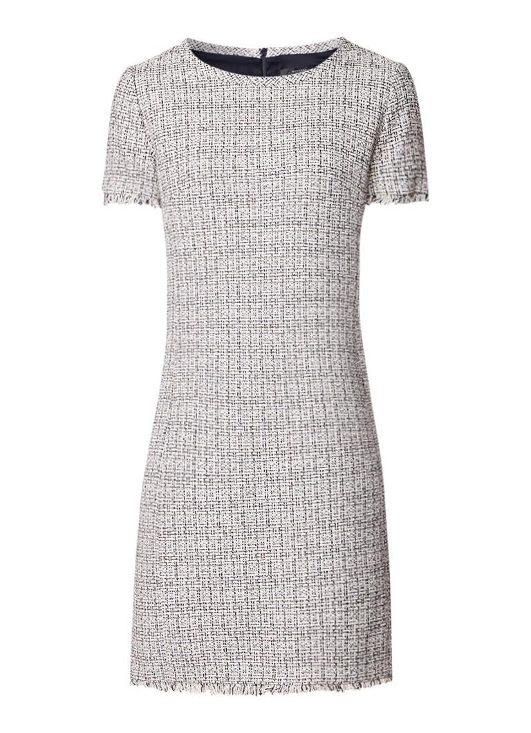 MaxMara Ezor bouclé midi-jurk met franjes en lurex gebroken wit