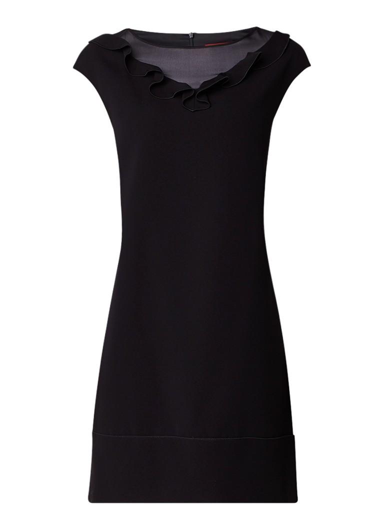 MaxMara Palanca jurk met semi-transparante inzet zwart
