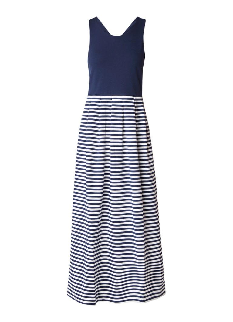 MaxMara Maxi-jurk met streepdessin donkerblauw