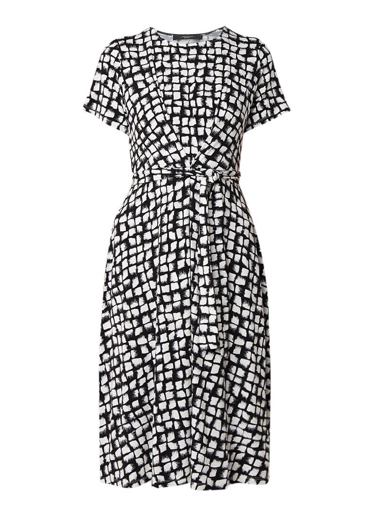 MaxMara Nazario A-lijn jurk van jersey met ceintuur wit
