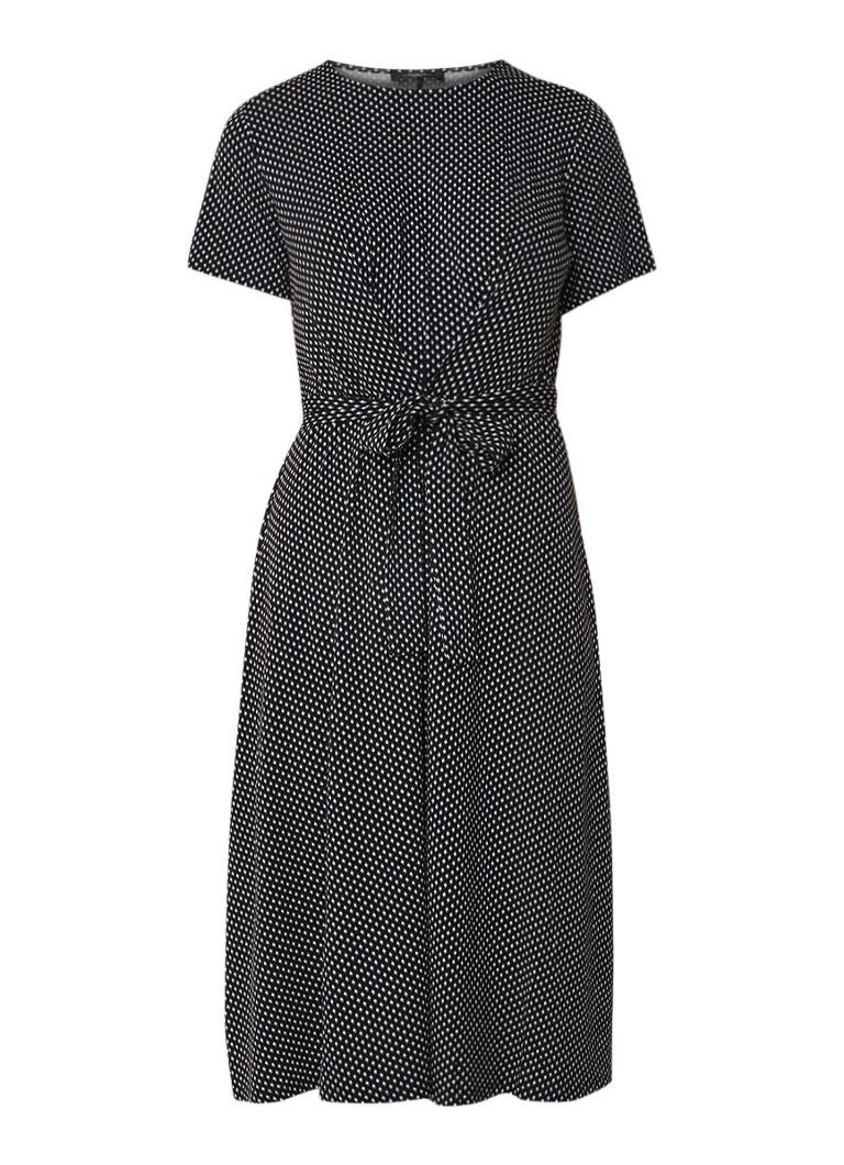 MaxMara Nazario A-lijn jurk van jersey met ceintuur zwart