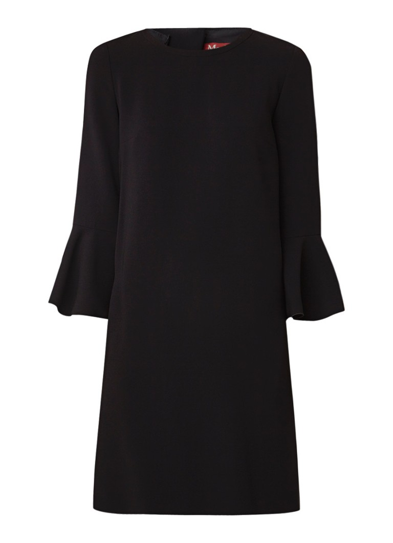 MaxMara Midi-jurk met volantmouw zwart