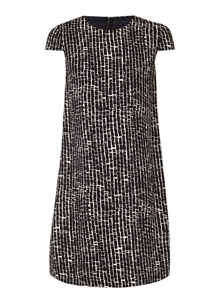 MaxMara Faggi jurk met grafisch dessin ivoor