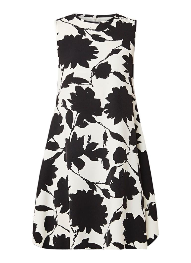 MaxMara A-lijn jurk met abstract bloemendessin wit