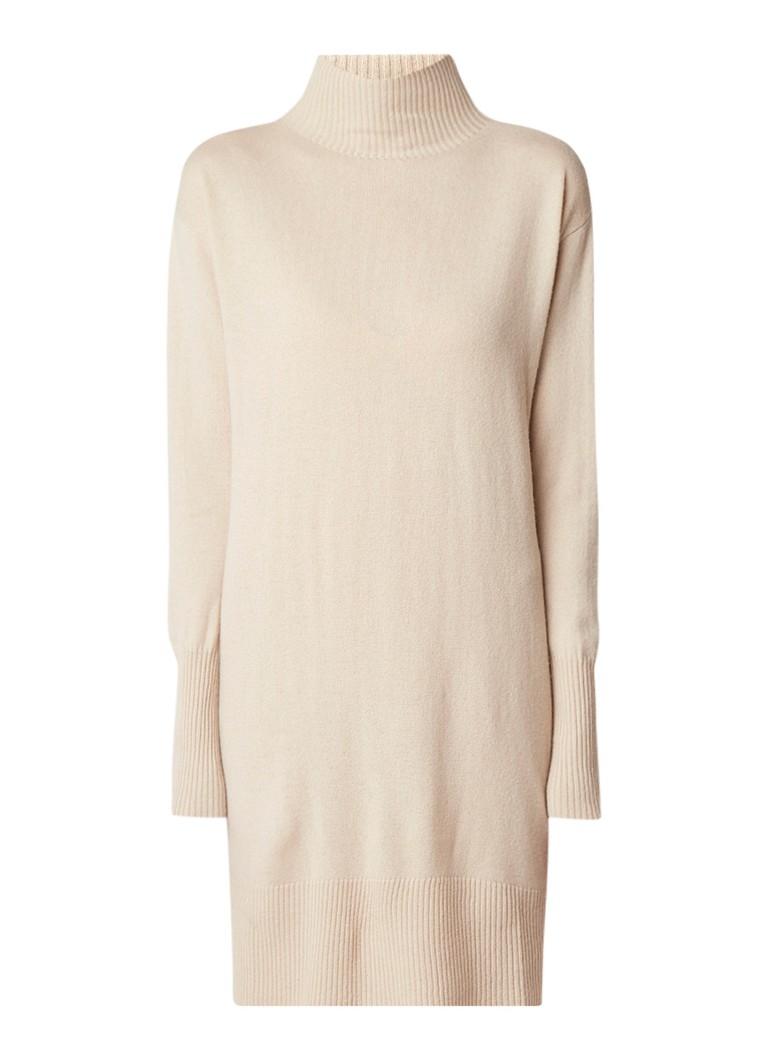 MaxMara Aceto coltrui-jurk in kasjmierblend beige