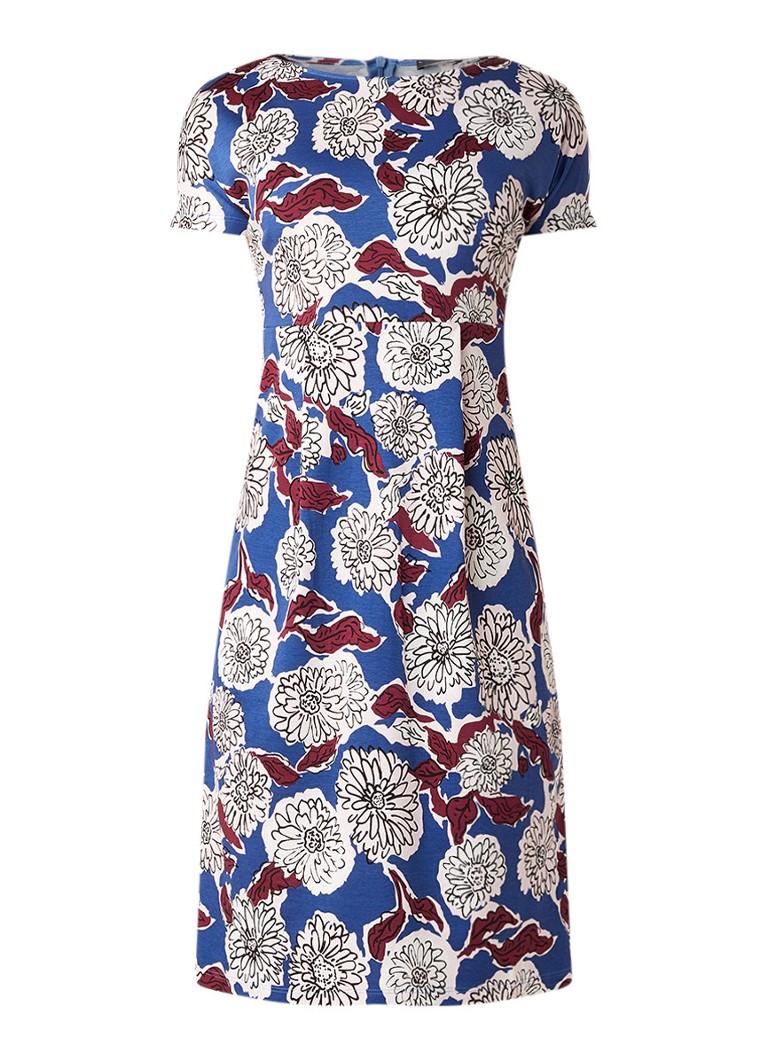 MaxMara Cascia midi-jurk met bloemendessin blauw