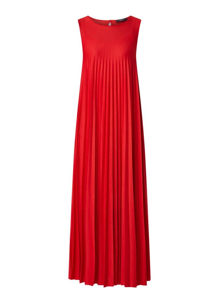 MaxMara Ogetti maxi-jurk van jersey met plissé rood