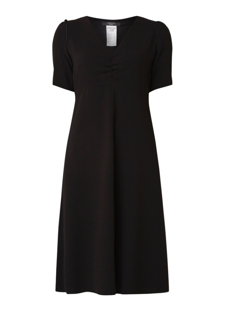 MaxMara A-lijn jurk me ruches en geplooid detail zwart