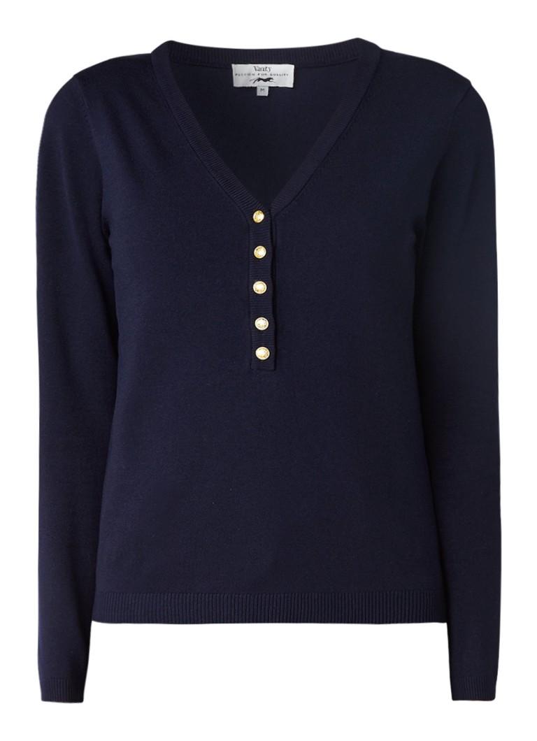Vanity Pullover met V-hals en knopen