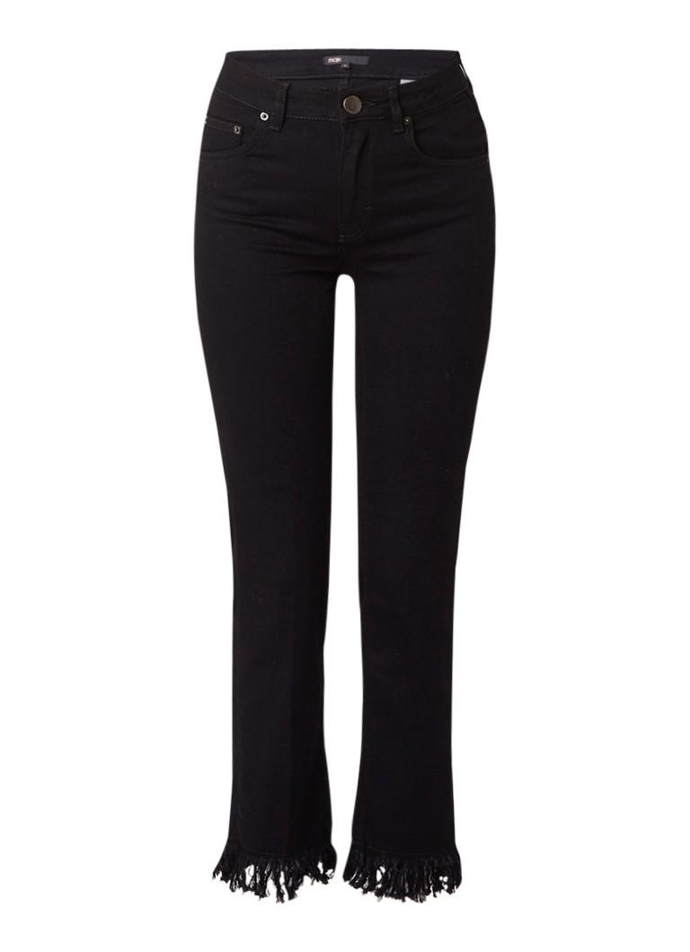 Maje Panako slim fit jeans met gerafelde zoom