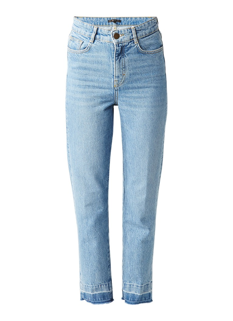 Maje Parazar high rise straight fit 7 8 jeans