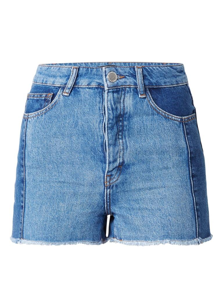 Maje Icka high rise shorts van denim