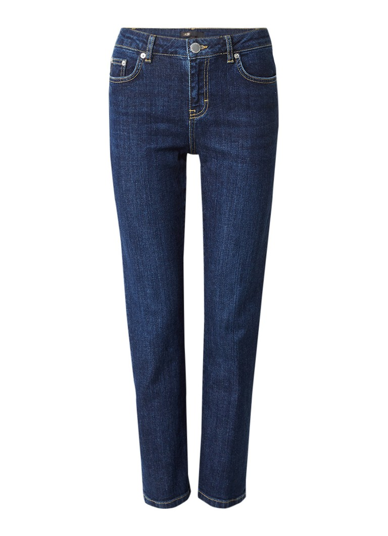 Maje Pippou cropped high rise straight fit jeans