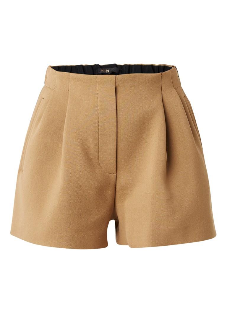 Maje Ivan high rise shorts in katoenblend