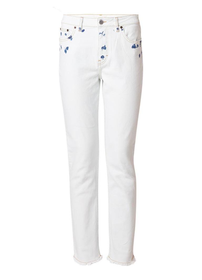 Maje High rise straight fit jeans met gerafelde zoom