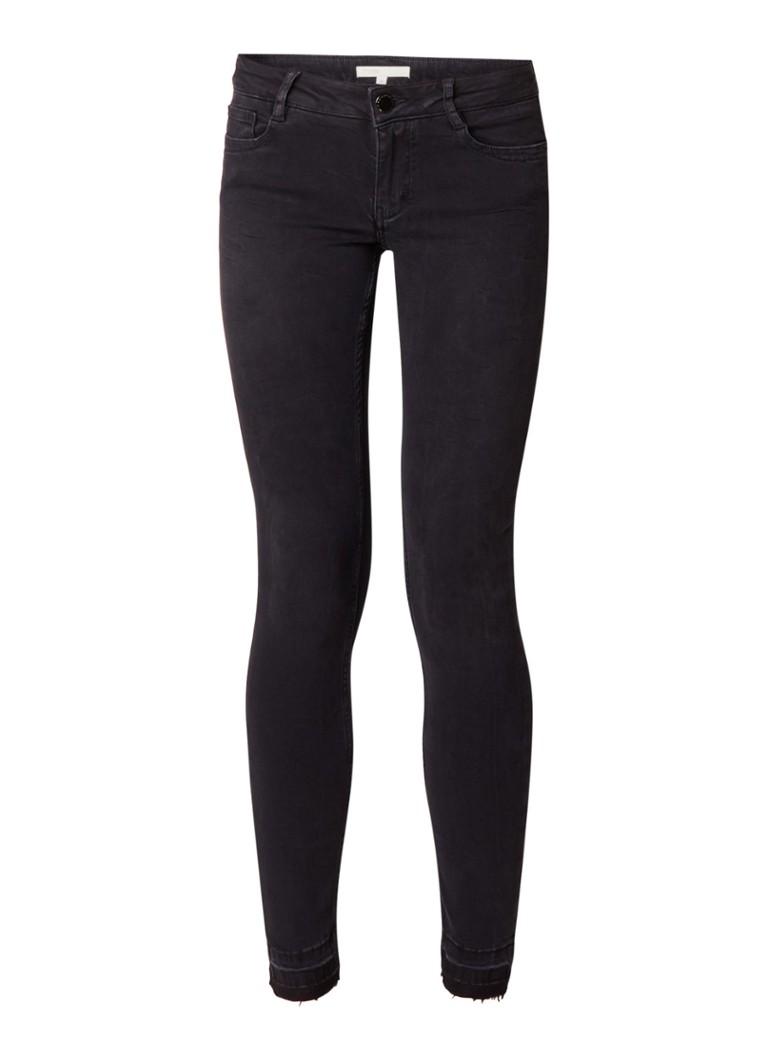 Maje Low waist skinny jeans met gerafelde zoom