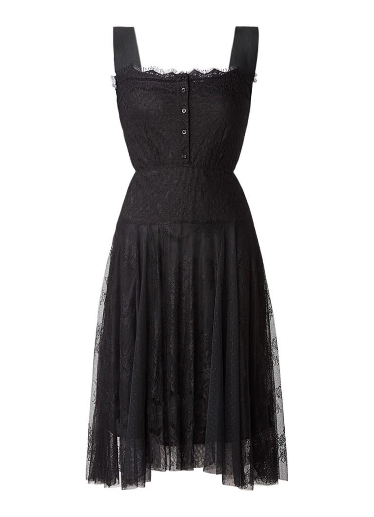 Maje Rinda A-lijn jurk van kant zwart