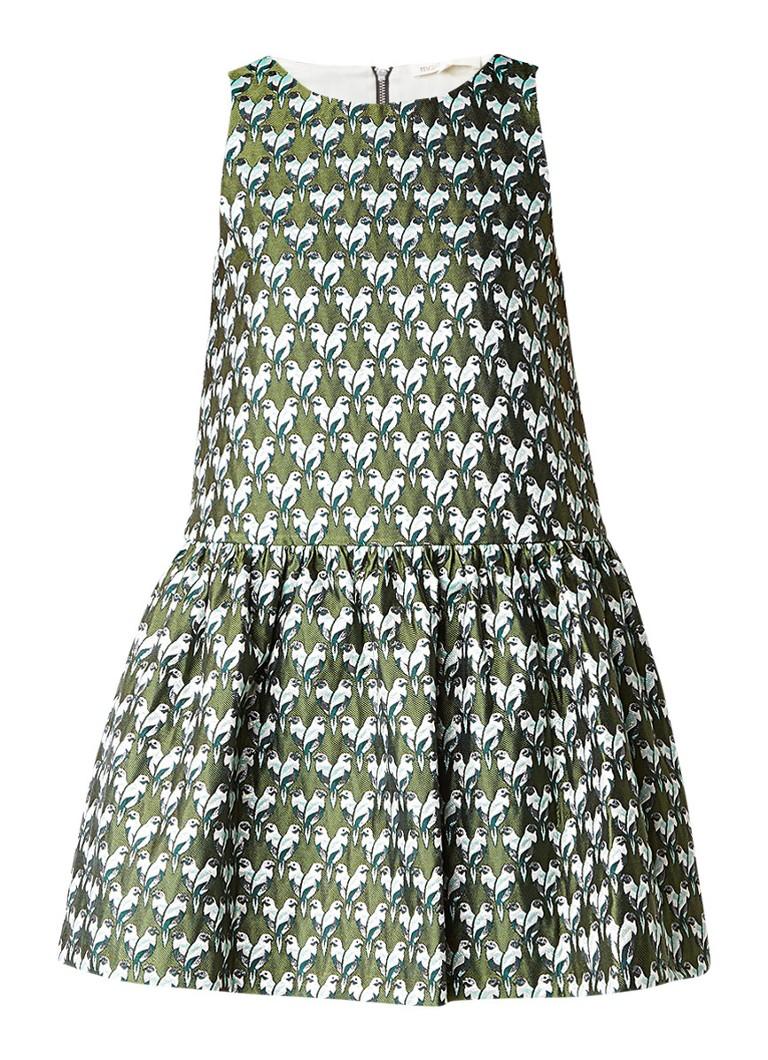 Maje Rower jacquard jurk met