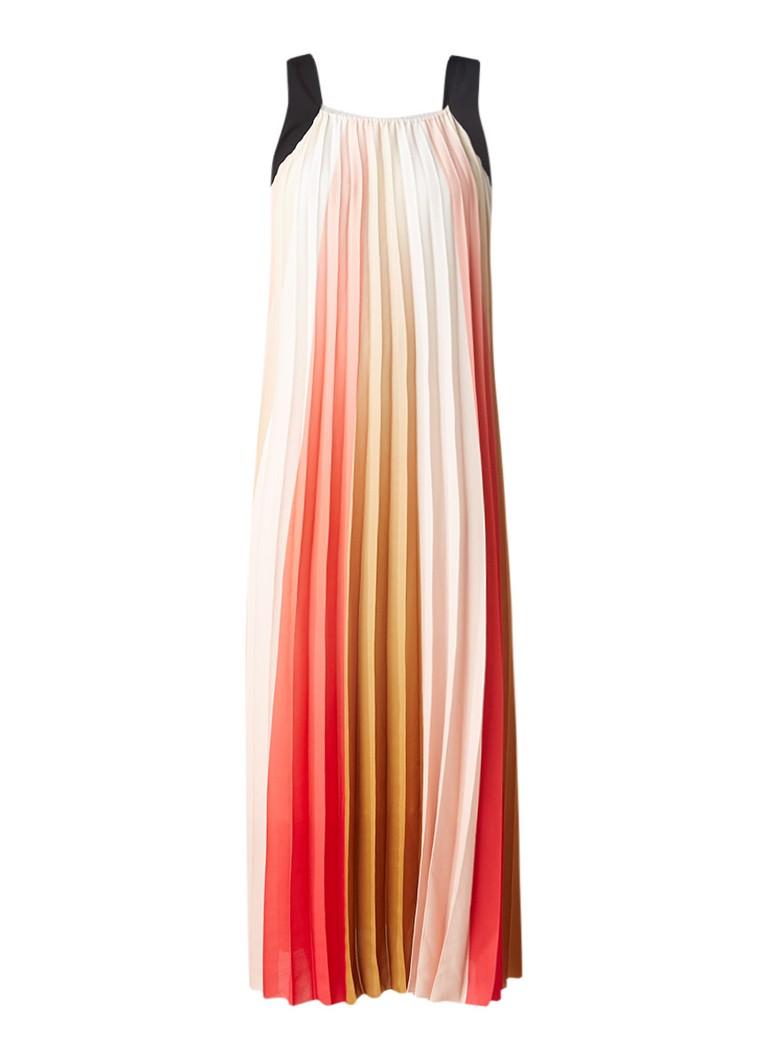 Maje Runina maxi-jurk met plissé rood