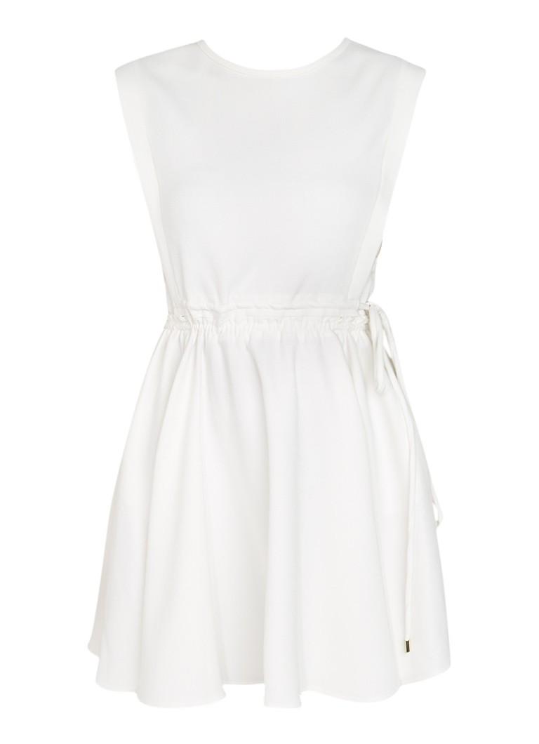 Maje Mouwloze A-lijn jurk met tunnelkoord gebroken wit