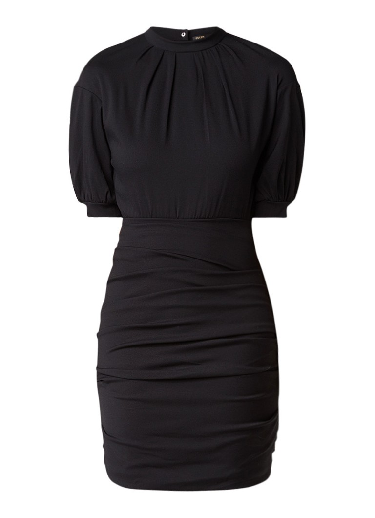 Maje Roxia gedrapeerde jurk van crêpe zwart