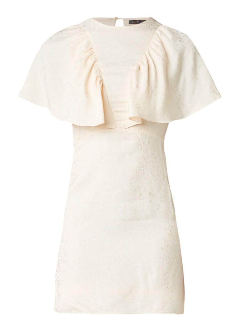 Maje Royalty mini-jurk met vlindermouw zalmroze