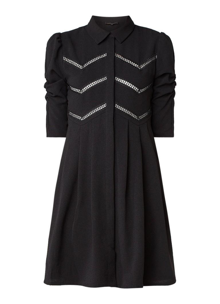 Maje Ratila jurk met opengewerkt detail zwart