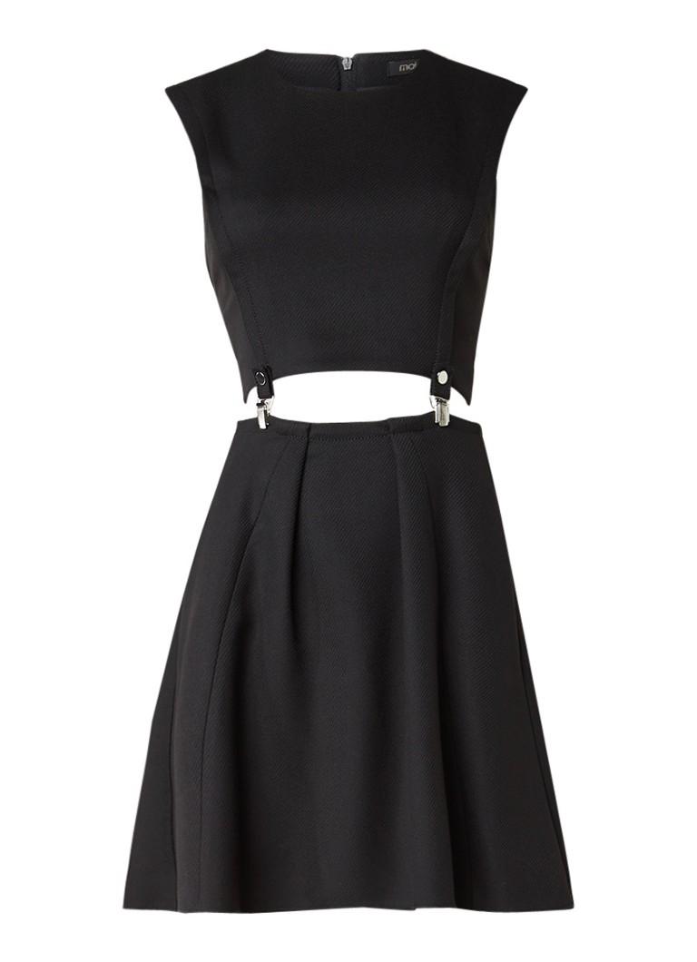 Maje Ruliete tweedelige jurk met bretels zwart